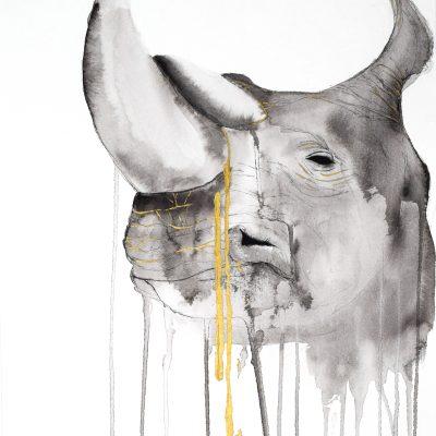 "Artwork by Stefanie Demas, ""Rhino"""