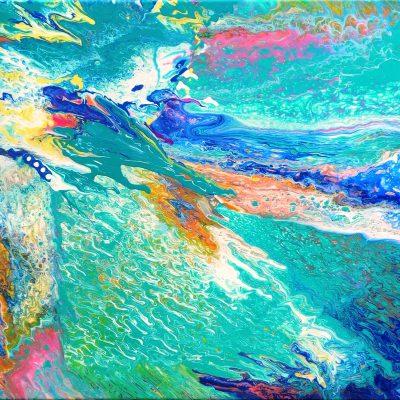 Azure Acrylic 24x30 by Carol Carpenter