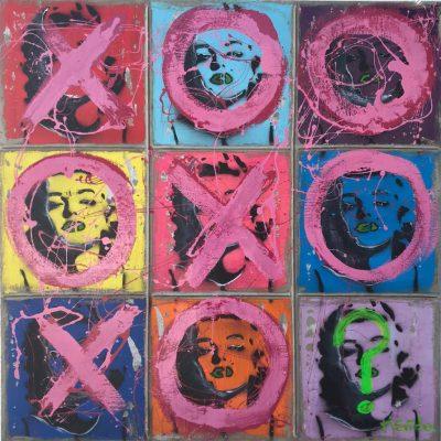 El Juego de las Marilyns. Series Ti Tac Toc. 72 x 72
